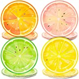 Tutti Fruity, Citrus Fruit Party Plates with Gold Foil Details for Summer Celebrations (9 ...
