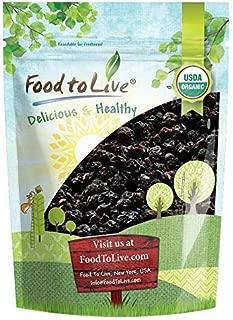 Organic Bing Cherries, 2 Pounds - California Sun-Dried Sour Cherries, Non-GMO, Kosher, Putted, Tart, Unsweetened, Unsulfured, Non-Infused, Non-Oil Added, Non-Irradiated, Vegan, Raw, Bulk