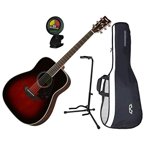 This is the Yamaha FG830 Tobacco Sunburst Finish with Tuner, Gig bag and guitar stand