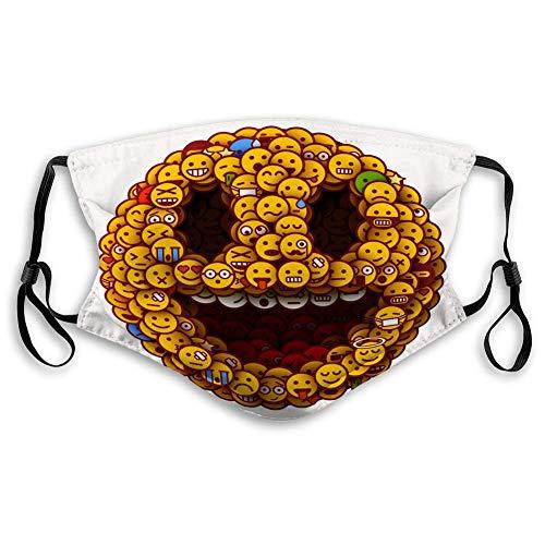 Ha99y Wiederverwendbarer M-förmiger Nasenclip Shield 1. April wold Fools Day Smiley-Gesicht Gemachte viele Mundschutz