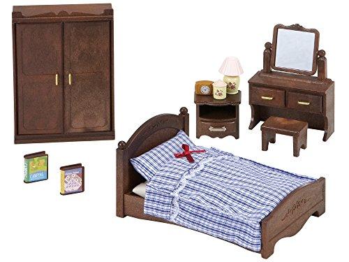 Sylvanian Families - Le Village - Chambre Parents Sylvanian - 5039 - Meubles et Accessoires Poupée - Mini Poupées