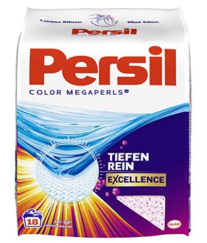 Persil Color Megaperls, Colorwaschmittel, 90 (5 x 18) Waschladungen, kraftvolle Fleckenentfernung für hygienisch reine Wäsche