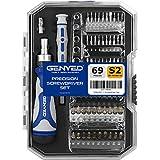 GENYED® Kit Destornilladores Precisión - 69 Piezas - Multiuso, para Laboratorio y Taller - Destornillador Precision más Destornillador Trinquete - Juegos de Destornilladores Torx