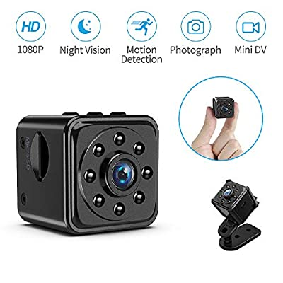 TAOCOCO Spy Camera Wireless Hidden Security Camera HD 1080P Home/Office Portable Small Indoor/Outdoor Tiny Covert Nanny Cam with Night Vision, Video Record and Motion Detection Activated (Dark Black)