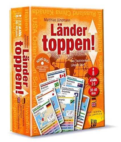 Drei Hasen in der Abendsonne GmbH 034 Länder toppen Kartenspiel, Biet-und Stichspiel