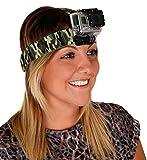 DURAGADGET Harnais de fixation frontale pour tête/casque pour Caméra sportive GEONAUTE G-EYE 300, 500, 700 FULL HD 1080P avec écran LCD