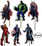 WIKI Fiesta : Avengers-Kuchen-Toppers (Packung mit 24)