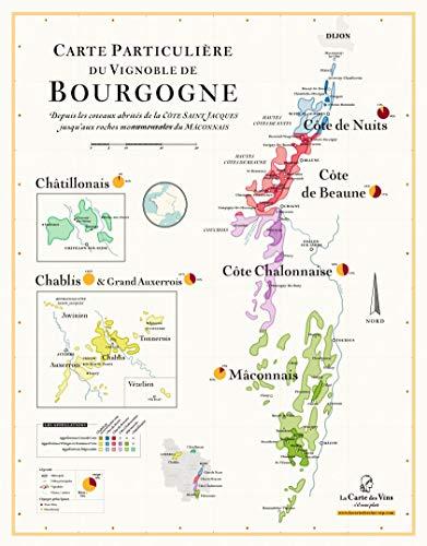 Mappa dei vini di Borgogna, 50 x 70 cm