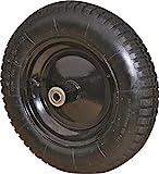Rocky Mountain Goods Wheelbarrow Wheel 16' Air Filled - For 6 & 8 cubic ft. wheelbarrow wheels including Jackson, True Temper, Ames, Ace, - Tread Grip Pattern (16')