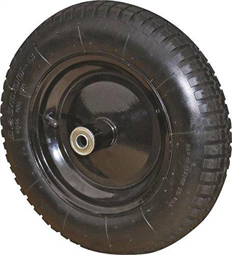 "Rocky Mountain Goods Wheelbarrow Wheel 16"" Air Filled - For 6 & 8 cubic ft. wheelbarrow wheels including Jackson, True Temper, Ames, Ace, - Tread Grip Pattern (16"")"