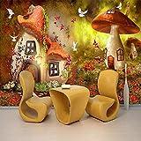 Papel Pintado Seta casa niños 3D Fotomurales Dormitorio Despacho Pasillo Decoración murales decoración de paredes Poster,450X320CM(WxH)