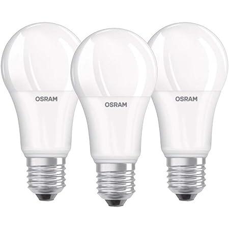 Osram Lampe LED Base Classic A, en forme d'ampoule avec douille E27, non dimmable, remplace 100 watts, mat, blanc froid - 4000 Kelvin, lot de 3