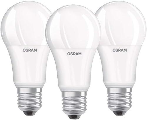 Osram Lampe LED Base Classic A, en forme d'ampoule avec douille E27, non dimmable, remplace 100 watts, mat, blanc fro...