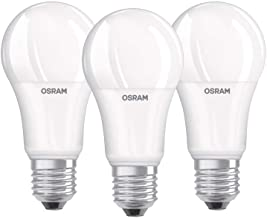 Osram LED Lamp/E27 Base/Cool White (4000 K)/Replaces 100 W Incandescent Bulbs/14.00 W/Frosted/LED Base Classic A, Pack of 3