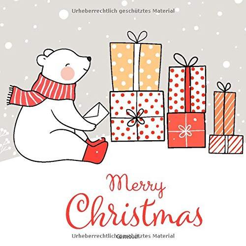 Merry Christmas Gästebuch: Gästebuch für Weihnachten   Zum Ausfüllen, Eintragen der...