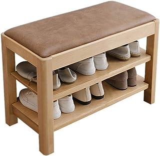 BHBXZZDB LIFFMallJC Banc à Chaussures d'entrée à 2 Niveaux, Organisateur de Rangement en Bois, étagère à Chaussures pour C...