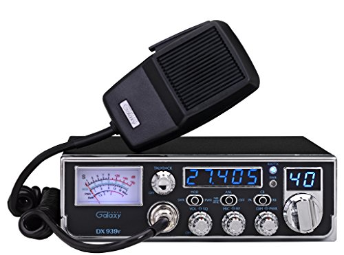 """Galaxy DX-939F Mobile AM CB Radio with Frequency Counter & Backlit Faceplate in a Mid Size Chassis - 7.25"""" Wide"""