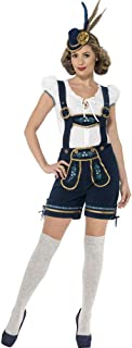 Womens Wench Oktoberfest German Costume Tops Jumpsuit Shorts Dungarees