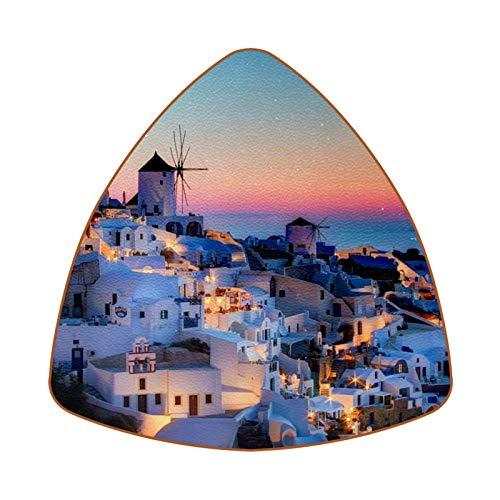 Greece Santorini Caldera Juego de 6 Posavasos para Bebidas para el hogar,...