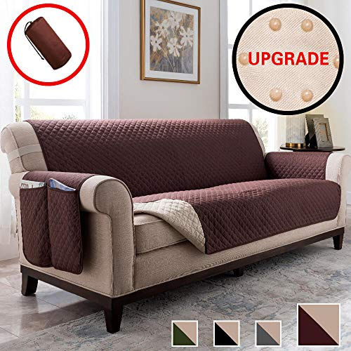 Vailge Sofa Cover, Durable Sofa Covers for Dogs,Couch Covers for Dogs, Sofa Slipcover, Couch Covers for 3 Cushion Couch, Sofa Covers for Living Room, Couch Protector (Sofa:Chocolate)