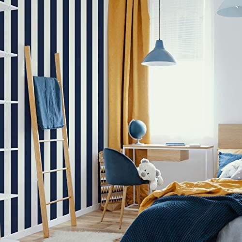 Superfresco Easy 108557 Navy Stripe - Papel pintado