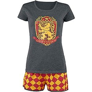 HARRY POTTER Gryffindor Quidditch Mujer Pijama Gris/Rojo/Amarillo, , elastischer Bund, Tunnelzug 54