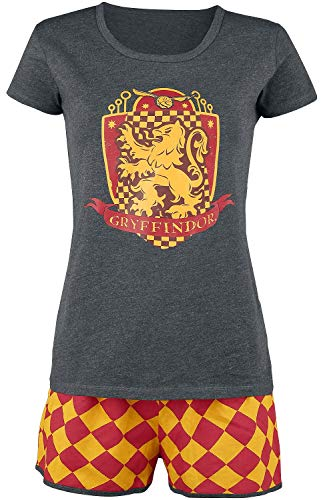 HARRY POTTER Gryffindor Quidditch Mujer Pijama Gris/Rojo/Amarillo XXL