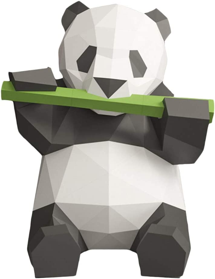 NUOBESTY 3D Paper Attention brand Animals Papercraft Kit Origami Spring new work Building Panda