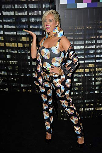 Posterazzi EVC1824O06KH100 Bebe Rexha in Attendance for Moschino X H&M Fashion Show, Pier 36, New York, Ny October 24, 2018 Kristin Callahan/Everett Collection Photo Print, Multicolored