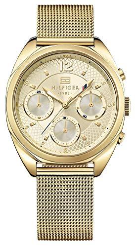 Tommy Hilfiger Damen Analog Quarz Uhr mit Paqué or Armband 1781488