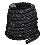 Auxega Battle Rope Exercise Equipment 1.5 Inch Diameter 40 FT Length Full Body Workout Equipment for...