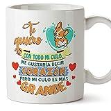 MUGFFINS Taza graciosa'Te quiero con todo mi culo' - Regalos Divertidos con Frases para Desayuno