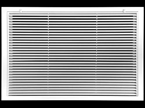 30 X 20 Aluminum Return Filter Grille Easy Airflow Linear Bar Grilles Outer Dimensions 31 75w product image
