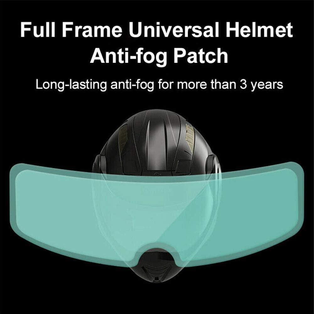 HD Clear Visor Shield Universal Helmet Patch Film for Cycling Safety Rainproof Anti-fog Helmet Patch Anti-fog Motorcycle Helmet Lens Rainproof And Anti-Fog Film Stickers Mirror Film