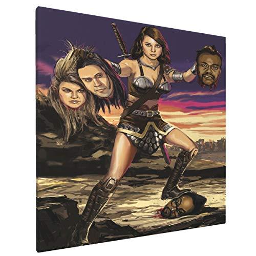 April Ludgate Vs Black Eyed Peas Home Decor Artwork Canvas Wall Art Prints Pictures 16