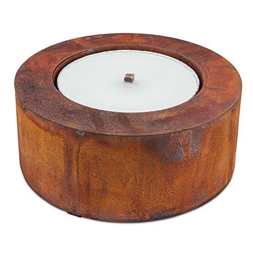 Scheulen Metall Zylinder Rost inkl. Flammschale Ø 26 cm/10 cm
