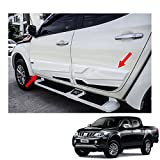 Powerwarauto Side Molding Body Cladding Black White 4Pc Trim For Mitsubishi L200 Triton 4 Doors Double Cab 2015 2016 2017 2018