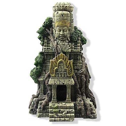 SODIAL Adorno de Acuario de Casa Figuras de Resina de Buda de Piedra Antigua Adorno de Acuario Accesorios de Decoración de Acuario de Pecera