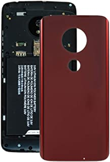 Mobile Phones Communication Accessories Battery Back Cover for Motorola Moto G7 Plus(Black) (Color : Red)