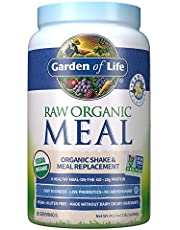 Deal on Garden of Life Raw Organic Meal Replacement Powder - Vanilla, 28 Servings, 20g Plant Based Protein Powder, Superfoods, Greens, Vitamins Minerals Probiotics & Enzymes All-in-One Meal Replacement Shake