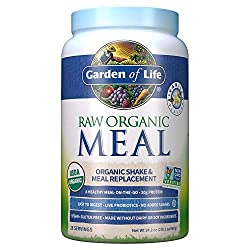 Garden of Life Raw Organic Meal Replacement Powder - Vanilla, 28 Servings, 20g Plant Based Protein P