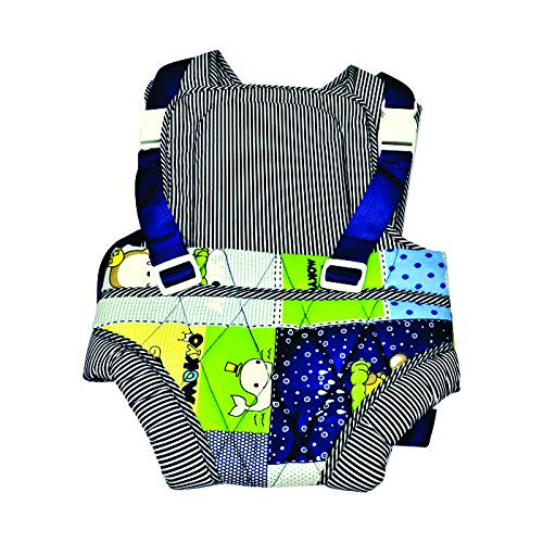 ROYALS CHOICE Baby Carrier Bag/Adjustable Hands Free 4 in 1 Baby/Baby sefty Belt/Child Safety Strip/Baby Sling Carrier Bag/Baby Red Carrier Bag (Black and Orange) Front Carry Facing (Navy Blue)