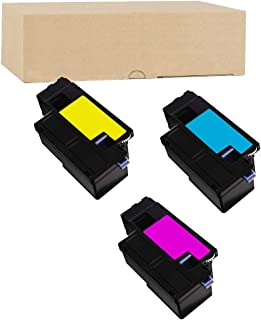 ADE Products Premium Compatible Toner Replacements for Dell H5WFX 593-BBJU (Cyan, Yellow, Magenta Toners), for Dell E525w, Dell E525 Multi-Function Printers