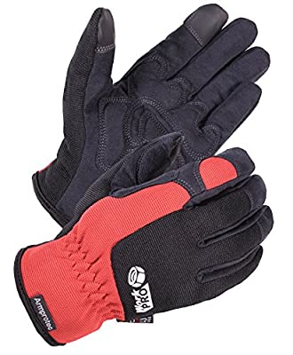 SKYDEER Mens Water Resistant Touchscreen Work Gloves with Hi-Performance WorkPRO Synthetic Leather (SD8821/XL)
