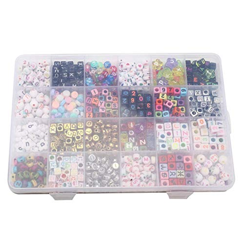 Material de calidad de abalorios sueltos del alfabeto, para pulsera, tobillera, collar, pendientes, llaveros