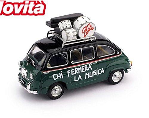 FIAT 600 MULTIPLA 50° ANNIVERSARIO POOH 1966-2016 1:43 Brumm Modelli Speciali modello modellino die...
