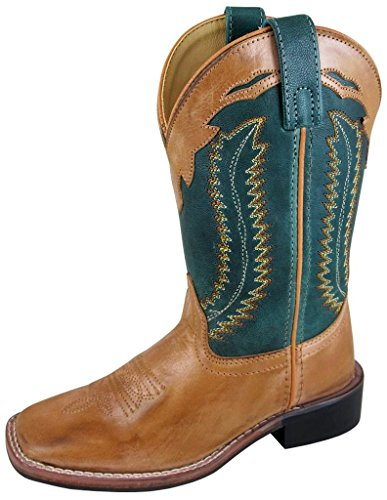 Smoky Mountain Boys' Green Jesse Western Boot Square Toe - 3667Y