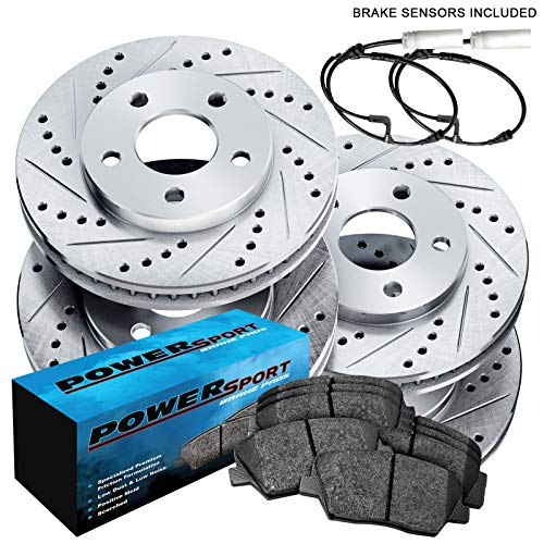 PowerSport Drilled Slotted Brake Rotors