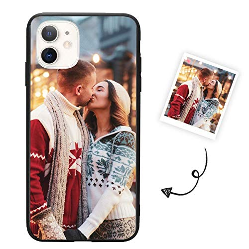 Custom Phone Case for iPhone 11,Support Customized for All iPhone Model Make Your Own Phone Case, Personalized Photo Gift for Birthday Xmas Valentines Best Friends Her and Him, Black