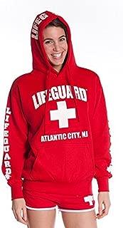 Official Ladies Red Hoodie Atlantic City NJ Medium